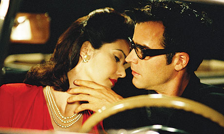 "Laura Harring and Justin Theroux in David Lynch's ""Mulholland Dr."""