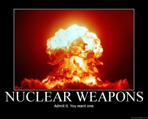 Nuclear Bomb Exploding.