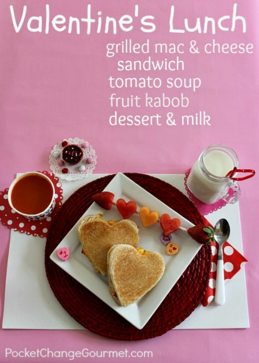 Valentine's Day Lunch - Heart Shaped Grilled Mac & Cheese Sandwich