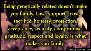 family matters, relationships only works the two parties involved want it to wok or are willing to try.