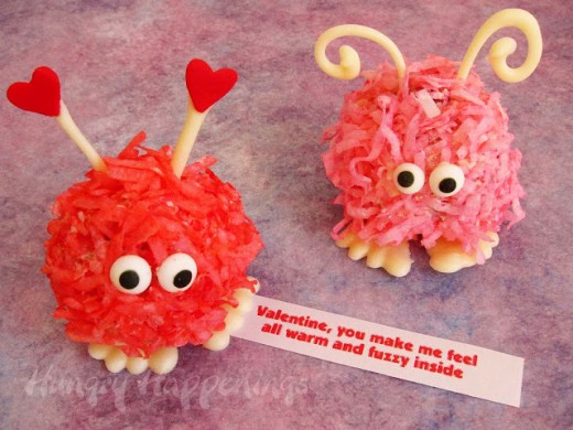 Valentine's Day Fuzzy Cake Balls are a very cute dessert idea for your kids on February 14th!