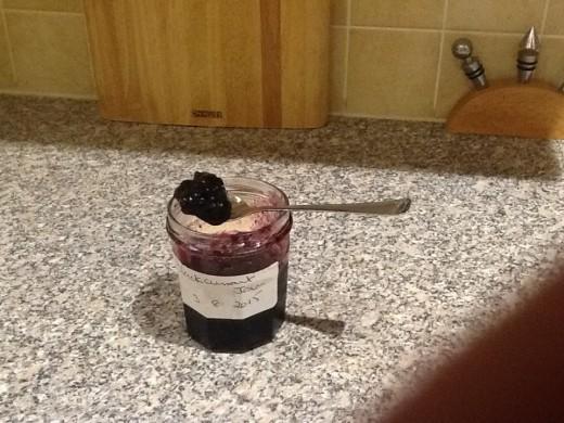 Homemade jam - lumpy texture
