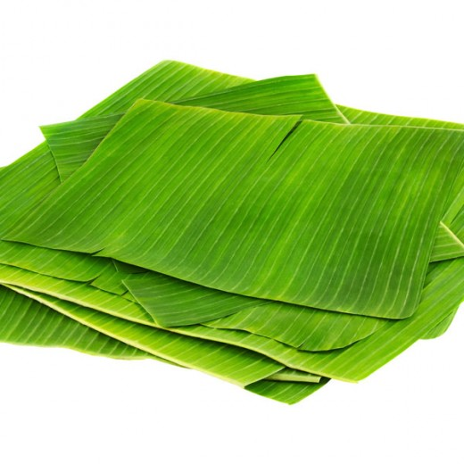 Banana leaves cut into strips