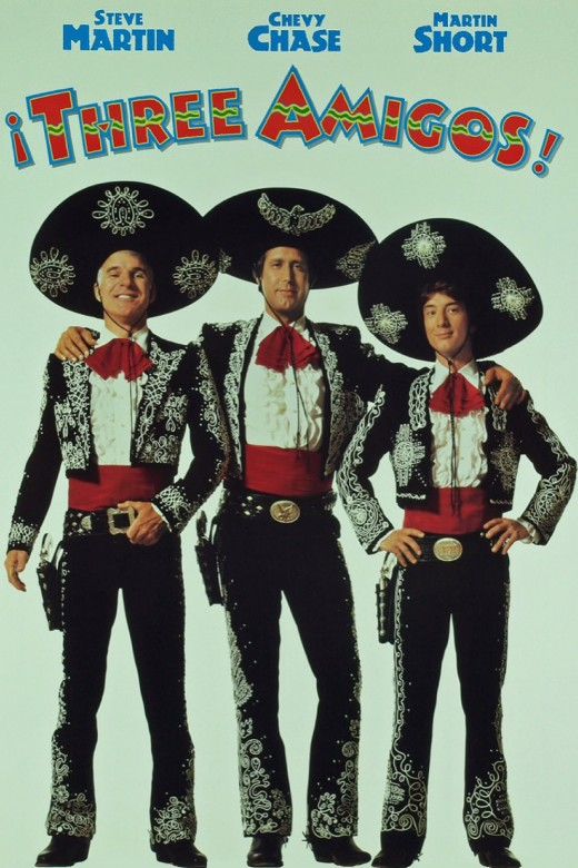 "Promotional poster for ""Three Amigos!"""
