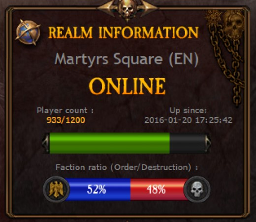 Return of Reckoning Population