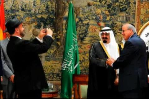 Saudi Leaders Entertaining Guests.