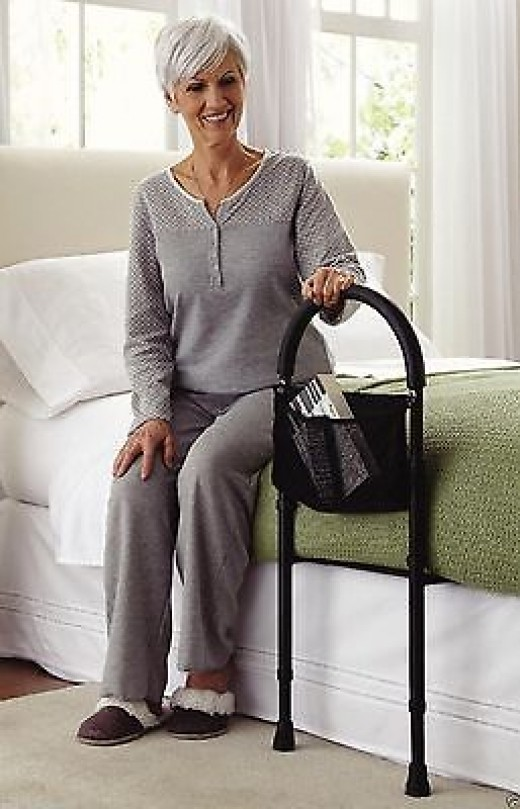 The addition of a bedside grab bar can make getting in and out of bed easier.