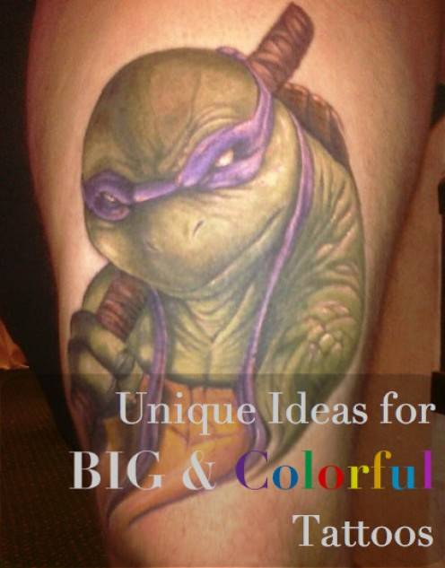 Big, Colorful Tattoo Ideas