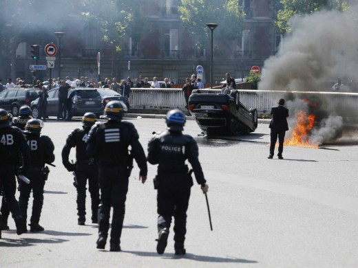 2015 Anti-Uber Taxi Riots in France
