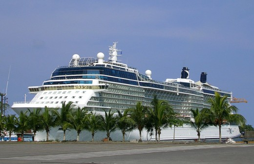 Cruise ships still visit Puerto Limon in Costa Rica like the one above even though it experiences heavy rainfall. Credit: Wikimedia (Creative Commons License)