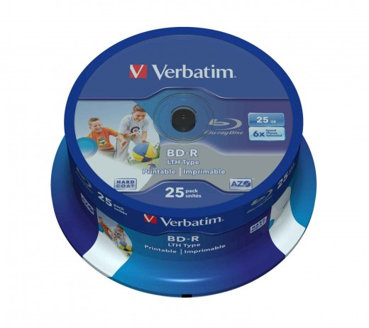 Blank Blu Ray discs can hold more data than DVD, but are still expensive.