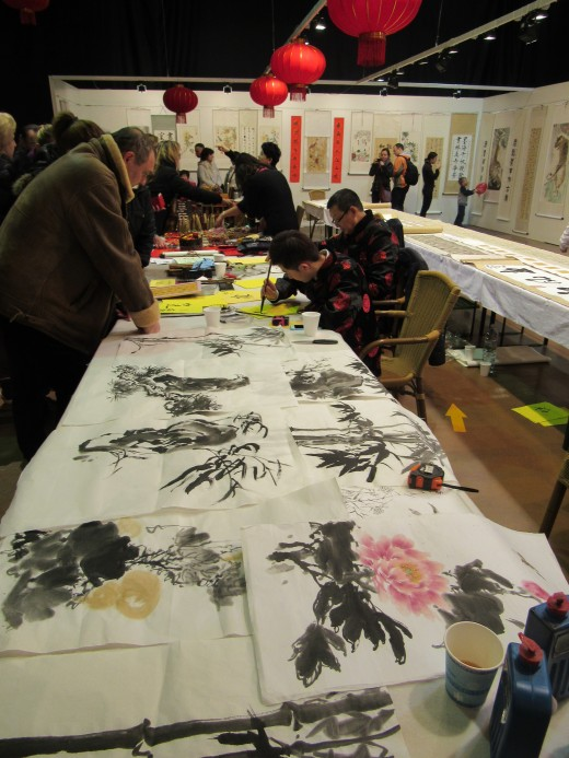 Professional calligraphist presented their art to public - there was also an exhibition of calligraphy