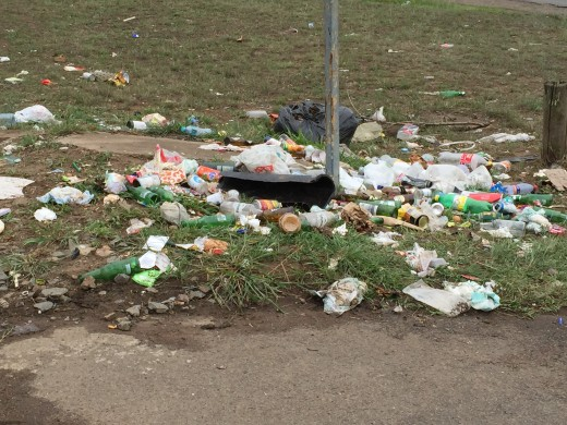 Litter is a huge problem in South Africa