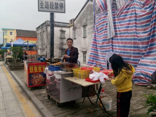Street food at Dapeng Ancient Fortress