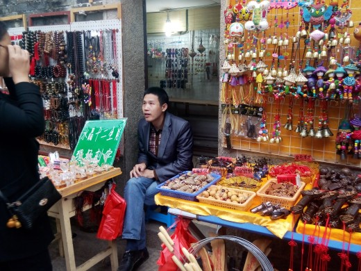 Stall seller at Dapeng Fortress
