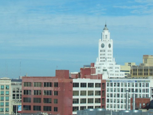 One of the many views from The Tenth Floor Grille which overlooks the city of Philadelphia.