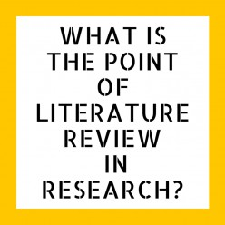 What Is the Point of Literature Review in Research?