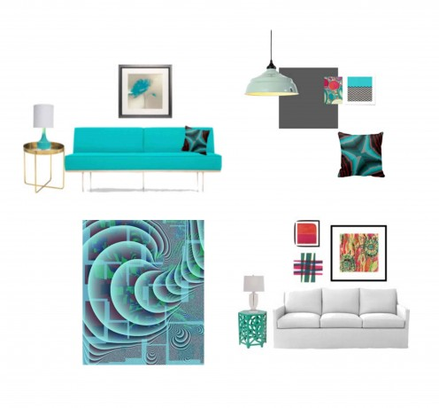 Fun Vibrant Trendy Interiors for your apartment in the city
