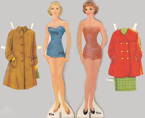 Vintage 1950s paper dolls