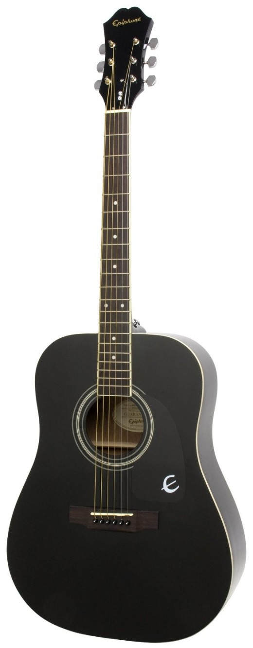Available in ebony, natural, and vintage sunburst finishes, the Epiphone DR-100 is one of the best-selling acoustics on the market, thanks to its ease to play and great sound qualities.  An all round guitar suitable for bluegrass, folk, rock, country