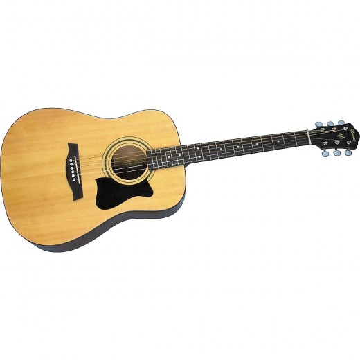 The Acoustic Guitar Jampack is a great opportunity for beginners to buy an affordable package that offers everything that a beginner guitarist needs.  As well as a V50 acoustic, there is an electronic tuner, gig bag, strap, and accessories pouch.