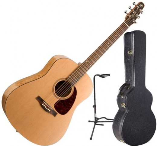 """With a Canadian wild cherry back and sides, rosewood neck, and a semi-gloss custom polished finish, the Seagull S6 """"The Original"""" Acoustic is a beautiful  instrument worthy of consideration for those desiring a beginner's six-string."""