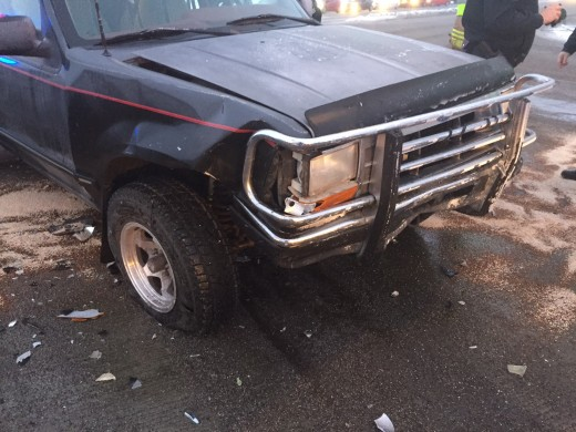 My car totalled - this 1991 Ford Explorer took hardly any damage - amazing