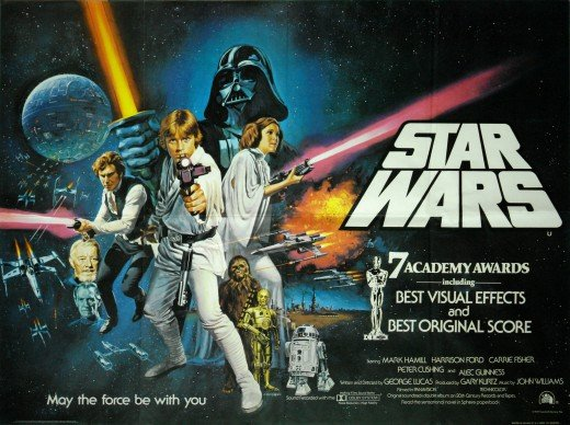 A poster for Star Wars Episode IV: A New Hope