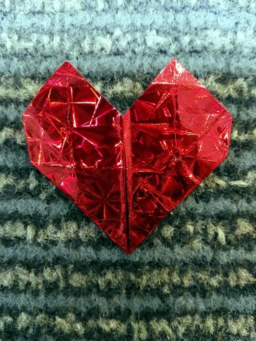 2D origami heart