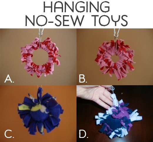 Hanging no-sew toys
