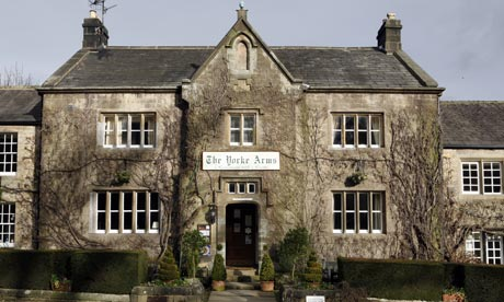 The Yorke Arms is one of several actual restaurants visited by the pair...