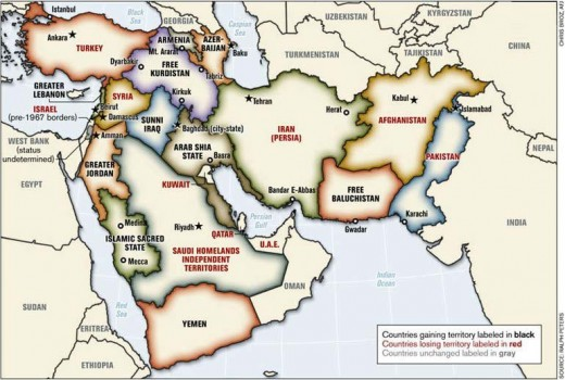 Map Of The Middle East From Whence Many Migrants And Refugees Are Coming.