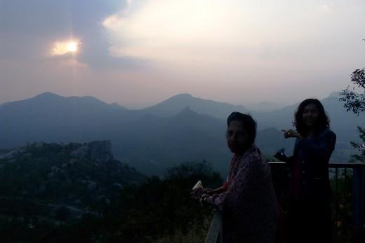 Gorgeous Sunset From Summit Near Yoganarasimha Temple, Devanarayanadurga