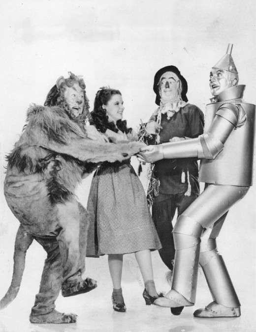 The most popular Wizard of Oz costume ideas are Dorothy Gale, The Cowardly Lion, The Tin Man, The Scarecrow
