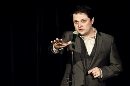 Niall O'sullivan, Compere, Poetry Unplugged at Poetry Cafe, London, UK.