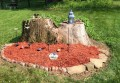 DIY: Sidhe (fairy) mounds out of tree stumps
