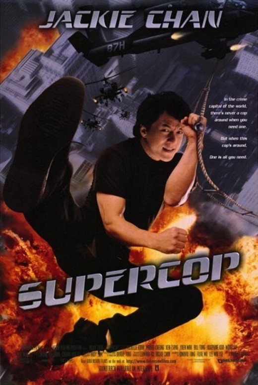 "US poster for ""Supercop"", omitting the previous Police Story installments"