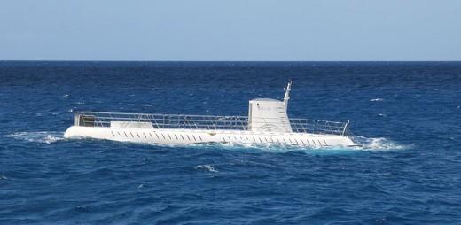 One of the Atlantis tourist submarines.