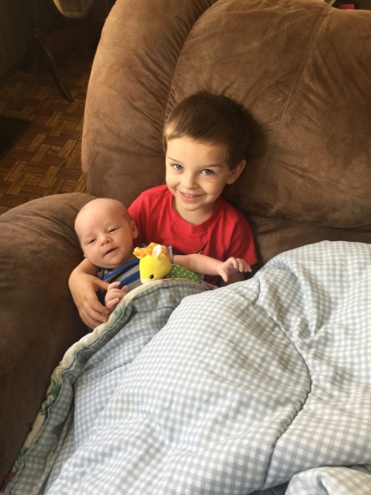 Charlie is blessed to have a big brother and two big sisters who already love him so much.