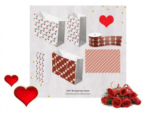 Red and white gift wrapping ideas