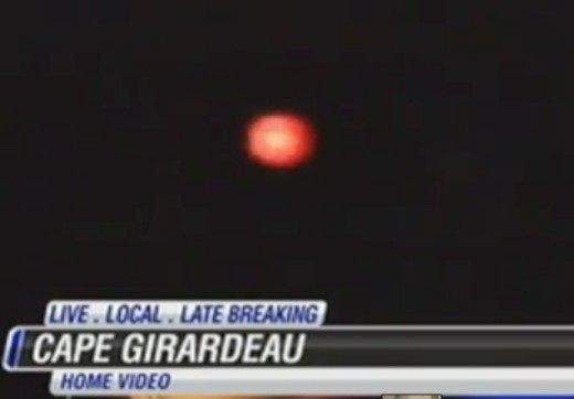 Orange orb type UFO that is still commonly seen in the area today.