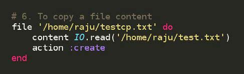Figure 3.6: Code for copying a file