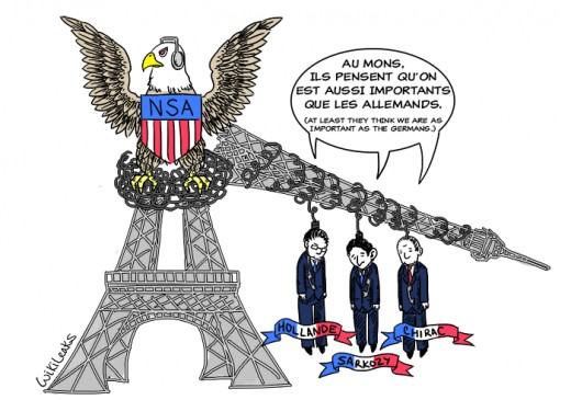 Wikileaks documents showed the U.S. is spying on France.