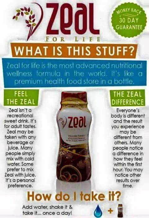 Zeal for Life Wellness Drink. Affordable & Healthy, because EVERYONE Deserves to be Happy & Healthy! YOU MATTER