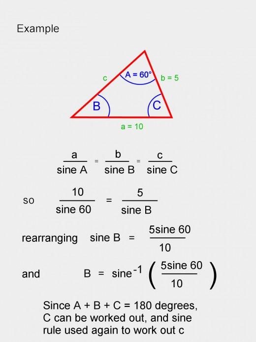 Sine rule example