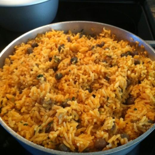 Rice with Pigeon Peas - Arroz con Gandules