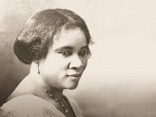 America's 1st African-American millionaire, Madam C.J. Walker.