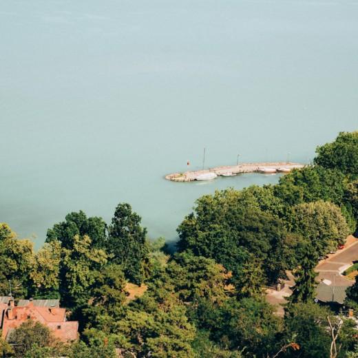 View on the lake Balaton in Hungary