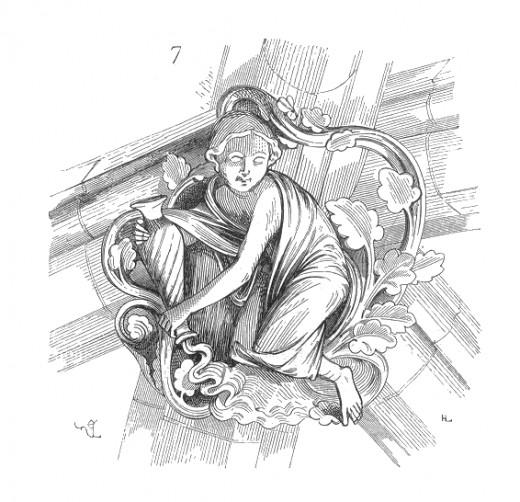 Aquarius Clef.voute.eglise.abbatiale.Vezelay wikimedia
