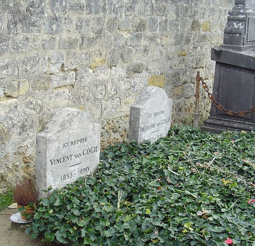 Grave of Vincent van Gogh, with his brother Theo beside him